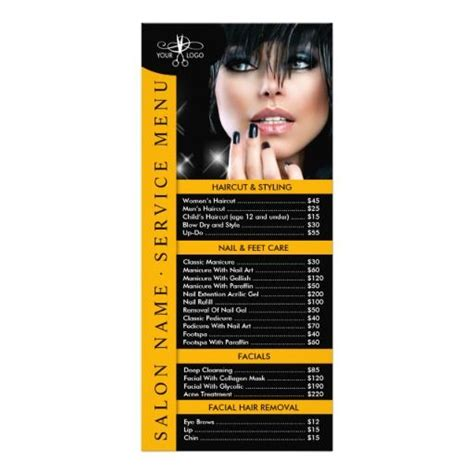 salon rack card template 89 best images about spa and salon flyers brochures