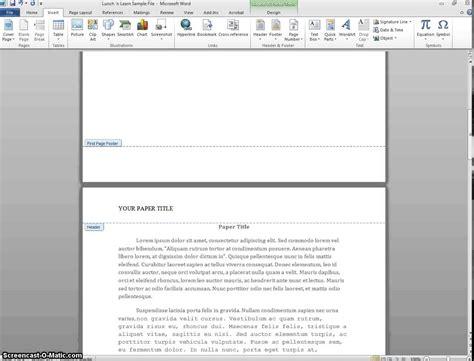 apa format header and footer apa header and footer pertamini co