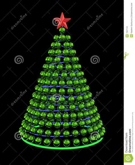 193 rbol de navidad de esferas verdes del espejo stock de