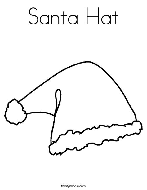 elf hat coloring page coloring pages ideas