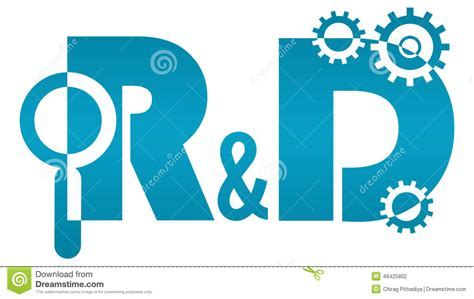 R D | r and d research and development logo stock illustration