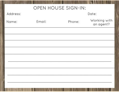 real estate open house sign in sheet printable best 25 open house signs ideas on pinterest realtor gifts realtor
