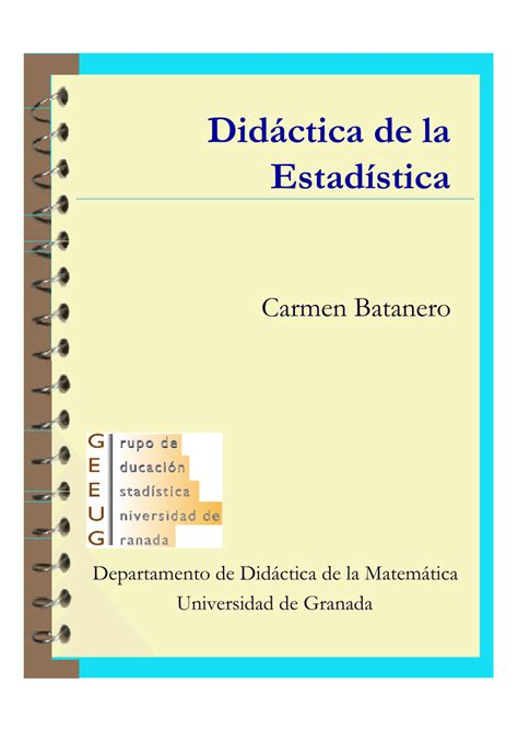 libros de estadistica inferencial 1 pdf pdf did 225 ctica de la estad 237 stica