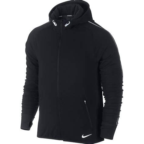 Jaket Sweater Hoodie Zipper Nike On The Run Terbaru wiggle nike dri fit feather fleece run zip fa14 running windproof jackets