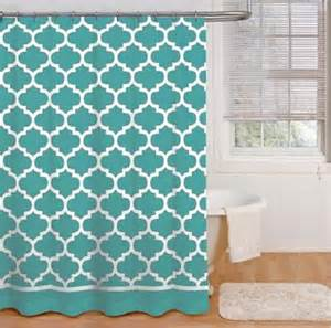 Trellis Fabric Curtains Modern Geometric Trellis Print Fabric Shower Curtain
