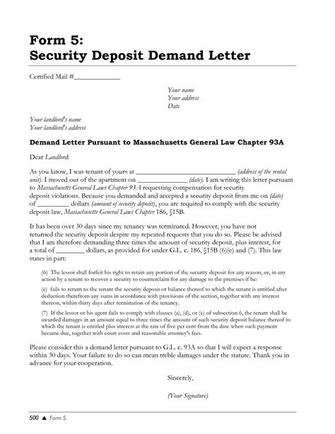 Demand Letter To Landlord