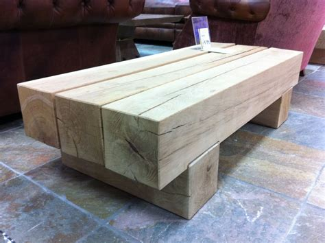 Oak Sleeper by Classic Coffee Table From New Oak Railway