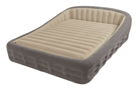 intex queen comfort frame airbed    air bed
