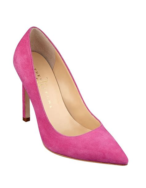 ivanka pink shoes ivanka carra pointed toe leather pumps in pink lyst