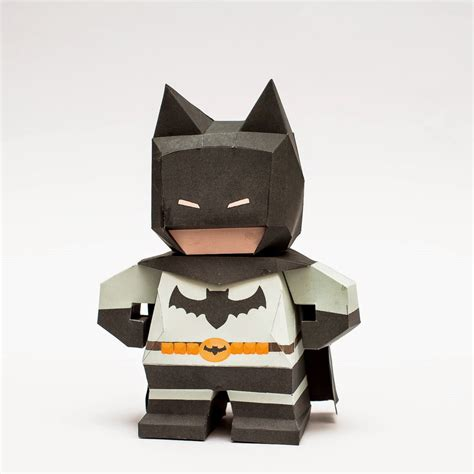 paper model craft chibi batman papercraft papercraft paradise