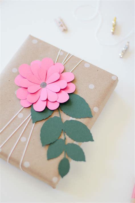 How To Make Flowers Out Of Wrapping Paper - gift wrap pink bloom