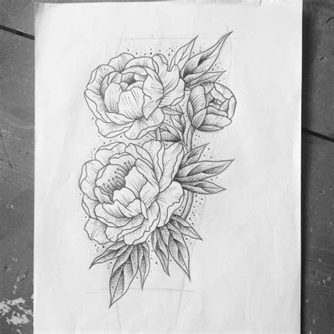 line art tattoos peony line drawing search ideas