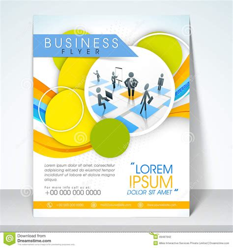 1 page flyer template business flyer banner or template stock photo image 49487942