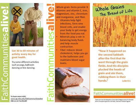2 whole grains whole grains 2 faith communities alive