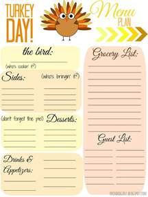 thanksgiving menu template printable orchard free thankgiving day menu plan printable