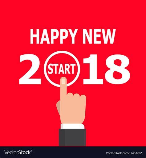 new year 2018 start start new year 2018 idea royalty free vector image