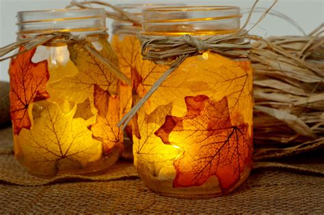 shorewest shares diy autumn leaf jar candle holders