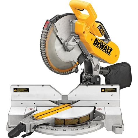 dewalt saw fence dewalt 15 amp 12 in double bevel compound miter saw with