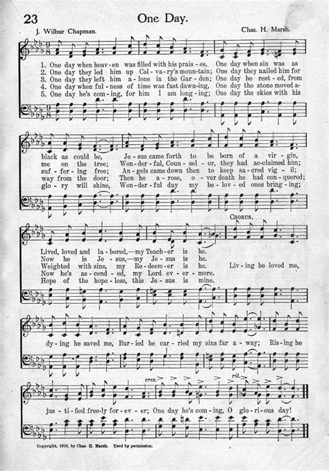 day songs free sheet from pentecostal hymns nos 5 and 6