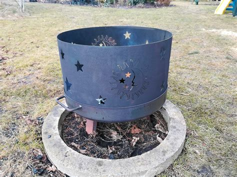 funkenschutz für feuerschale 80 cm woodmetalworks feuerschalenkranz funkenschutz sonne