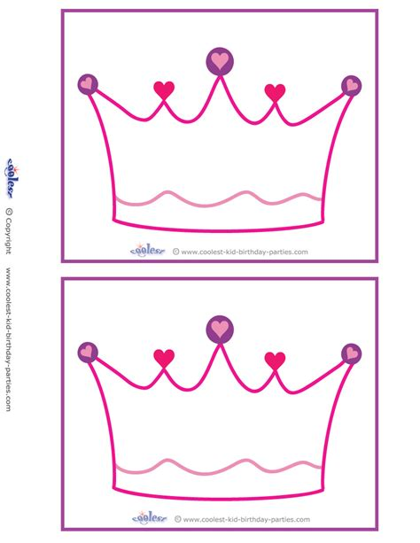tiara template printable free blank printable crown invitations