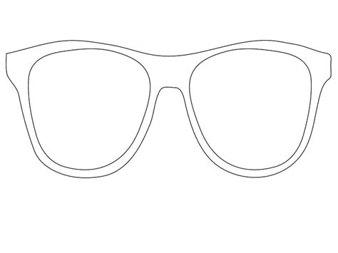 galleries sunglasses outline printable sunglasses