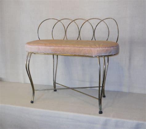 brass vanity bench retro vegas seating