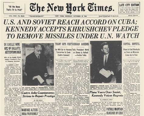 Newspaper Shower Curtain Cuban Missile Crisis 1962 Photograph By Granger
