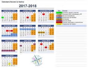 Calendario 2018 Escolar Calendario Escolar Galicia 2017 2018 Vigopeques