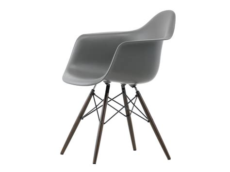 buy the vitra daw eames plastic armchair maple base