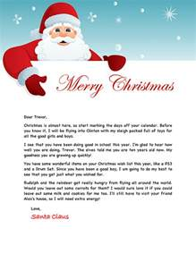 free printable letter from santa template santa letter exle personalized letters from santa
