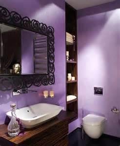 Purple Color Bathroom - dise 241 os de ba 241 os femeninos