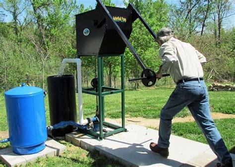 human powered water pump