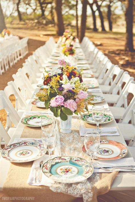 elegant table settings and different things to use to elegant wedding table settings mismatched china elegant