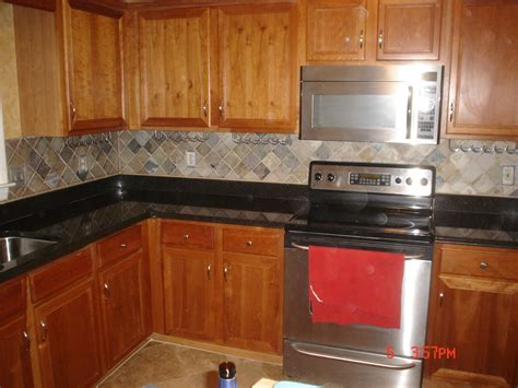slate backsplash tiles for kitchen kitchen kitchen backsplash ideas black granite