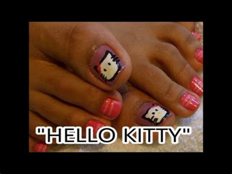 imagenes uñas de hello kitty decoracion de u 241 as de los pies quot hello kitty quot nail art