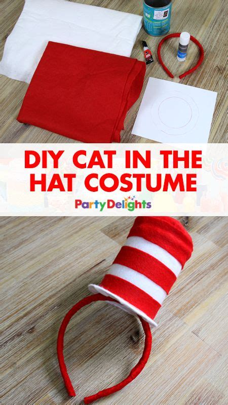 make your own hats classic reprint books diy cat in the hat costume mini top hat dr seuss