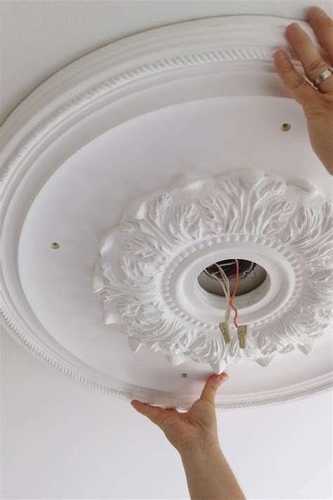 how to install a ceiling medallion how to install ceiling