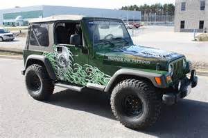 Wrapped Jeep Jeep Wrap Skinnerink Eminent Custom Graphics Inc