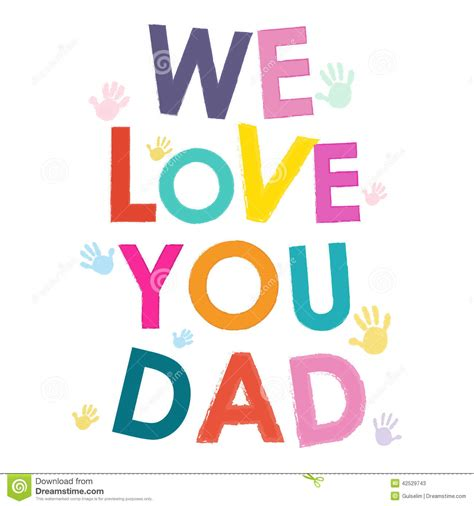 images of love you dad we love you dad happy fathers day card stock vector