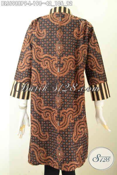 Terusan Daleman Pendek Kode 5906 batik blus terusan pakaian batik jawa tengah motif
