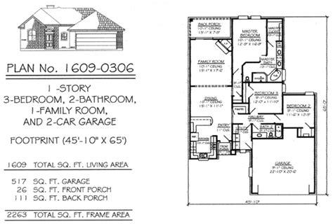 Narrow 1 Story Floor Plans 36 To 50 Feet Wide Floor Plans 2 Car Garage