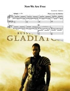 gladiator film score now we are free quot now we are free quot gladiator soundtrack piano sheet music