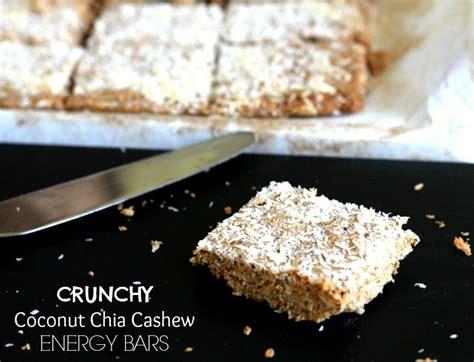 Chia Energy Bar Coconut foodie friday crunchy coconut chia cashew energy bars the fit foodie