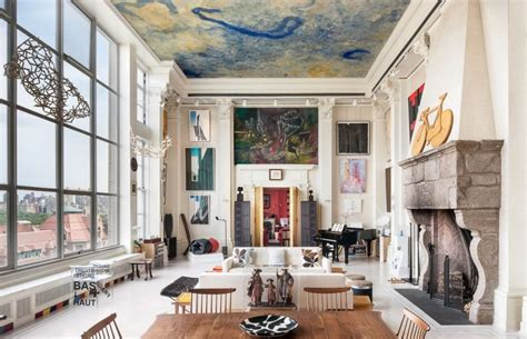 appartment nyc new york loft adorned by fascinating art collection worth