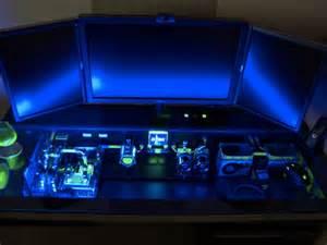 Gaming Computer Desk Casemod Un Ordinateur Dans Un Bureau