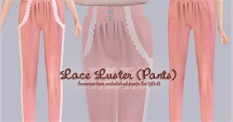 my sims 3 blog lace my sims 3 blog lace luster pants by simplicaz