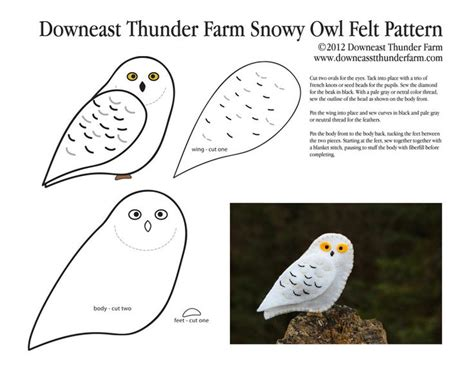 Snowy Owl Hedwig Papercraft By X0xchelseax0x On - ponad 25 najlepszych pomys蛯 243 w na temat felt owl pattern