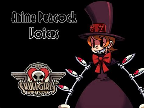 peacock s anime voice pack in skull is of