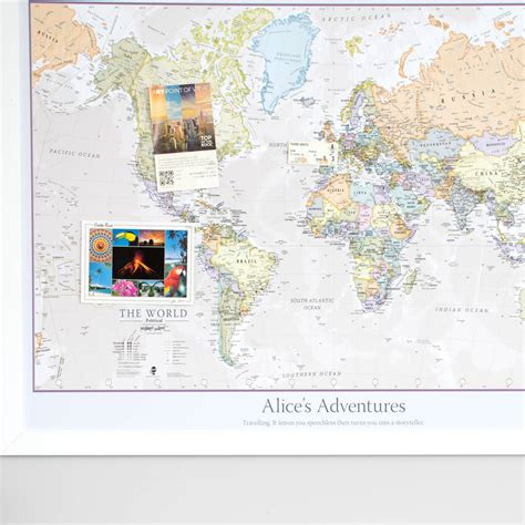 classic maps personalised classic world map by maps international